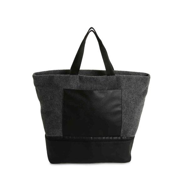 DSW Handbags - Gray Felt Tote